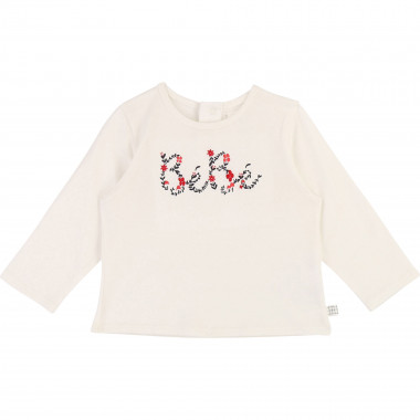 Novelty cotton T-shirt CARREMENT BEAU for GIRL