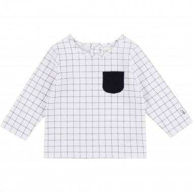Checked cotton T-shirt CARREMENT BEAU for BOY