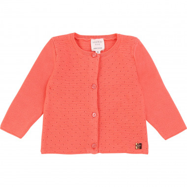 Tricot cardigan with openwork CARREMENT BEAU for GIRL