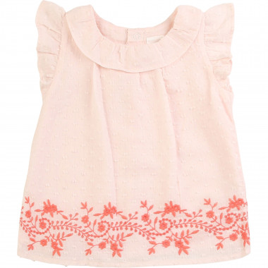 Cotton dotted swiss blouse CARREMENT BEAU for GIRL