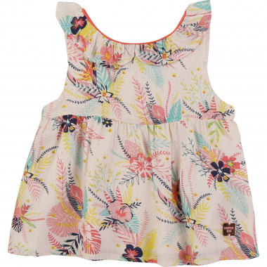 Blouse with tropical pattern CARREMENT BEAU for GIRL