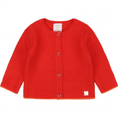 Buttoned tricot cardigan CARREMENT BEAU for GIRL