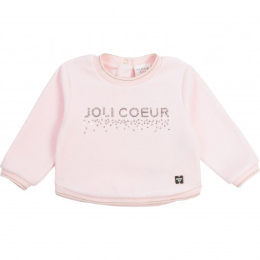 Sequined terrycloth sweatshirt CARREMENT BEAU for GIRL