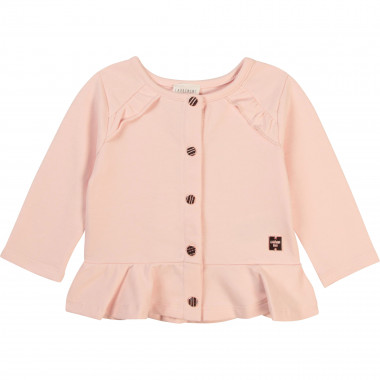 Ruffled fleece cardigan CARREMENT BEAU for GIRL