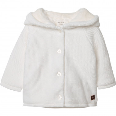 Organic cotton and wool coat CARREMENT BEAU for GIRL