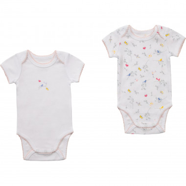 Set of 2 cotton bodysuits CARREMENT BEAU for GIRL
