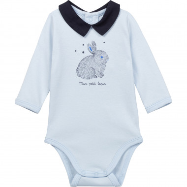 Cotton onesie with collar CARREMENT BEAU for BOY
