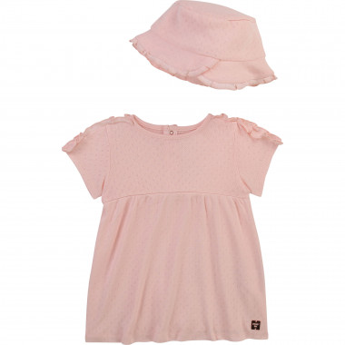 Cotton dress and hat set CARREMENT BEAU for GIRL
