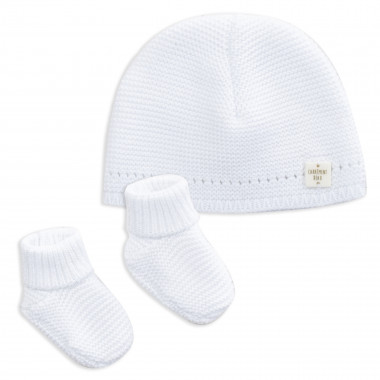 Beanie and booties set CARREMENT BEAU for BOY