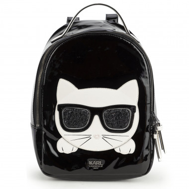 Faux patent leather backpack KARL LAGERFELD KIDS for GIRL