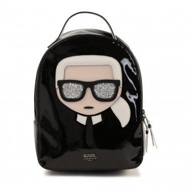 Faux leather rucksack KARL LAGERFELD KIDS for GIRL