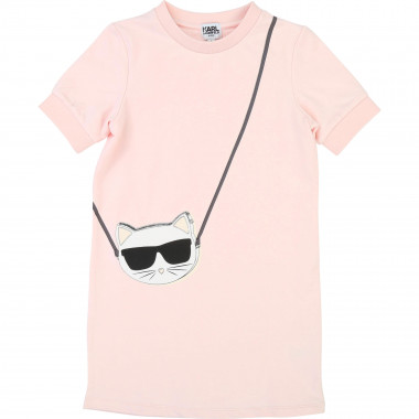Novelty illustration dress KARL LAGERFELD KIDS for GIRL