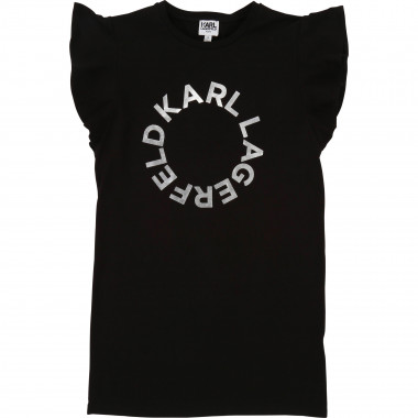 Jersey T-shirt dress KARL LAGERFELD KIDS for GIRL