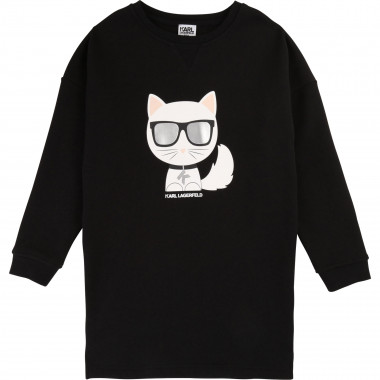 Choupette long-sleeved dress KARL LAGERFELD KIDS for GIRL