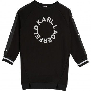 Long-sleeved sporty dress KARL LAGERFELD KIDS for GIRL