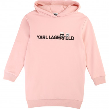 Long-sleeved jumper dress KARL LAGERFELD KIDS for GIRL