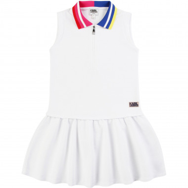 Sleeveless polo dress KARL LAGERFELD KIDS for GIRL
