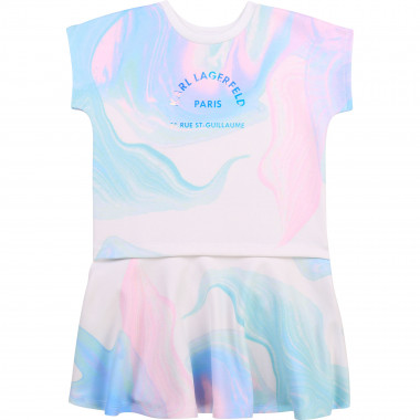 2-in-1 milano jersey dress KARL LAGERFELD KIDS for GIRL