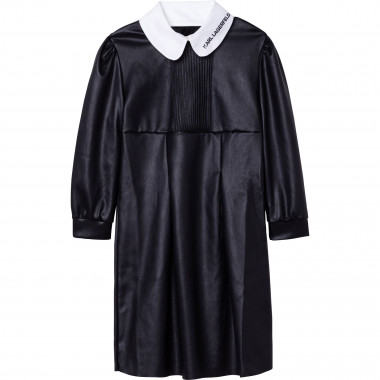 Dress with contrasting collar KARL LAGERFELD KIDS for GIRL