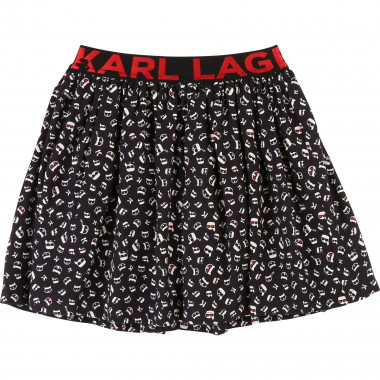 Printed frilled skirt KARL LAGERFELD KIDS for GIRL