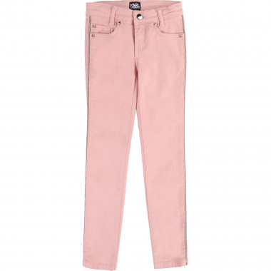 Trousers with pearly braids KARL LAGERFELD KIDS for GIRL