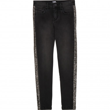 Stretchy sparkle jeans KARL LAGERFELD KIDS for GIRL