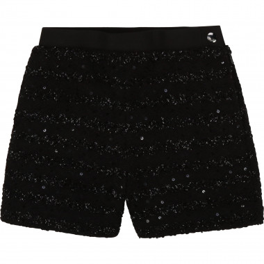 Tweed shorts with sequins KARL LAGERFELD KIDS for GIRL