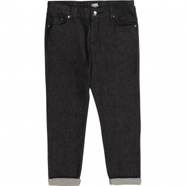 Jeans with embroidered pocket KARL LAGERFELD KIDS for GIRL