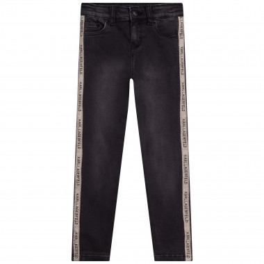 Stretch jeans with stripes KARL LAGERFELD KIDS for GIRL
