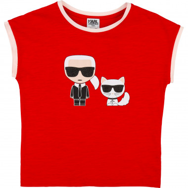 Slubbed jersey T-shirt KARL LAGERFELD KIDS for GIRL