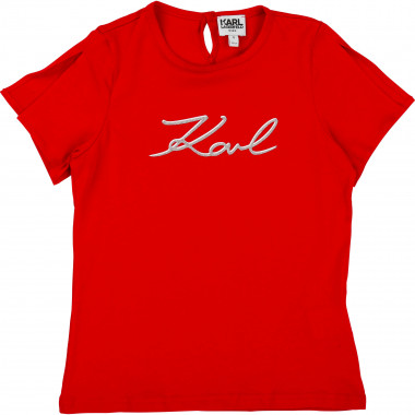 Cotton jersey T-shirt KARL LAGERFELD KIDS for GIRL