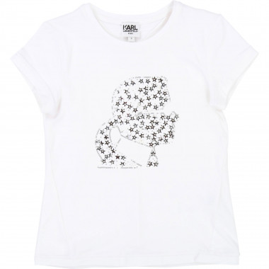 Fancy T-shirt KARL LAGERFELD KIDS for GIRL