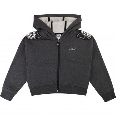 Hooded jogging jacket KARL LAGERFELD KIDS for GIRL