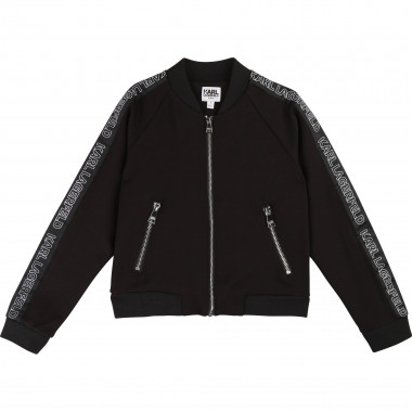 Knit jogging jacket KARL LAGERFELD KIDS for GIRL