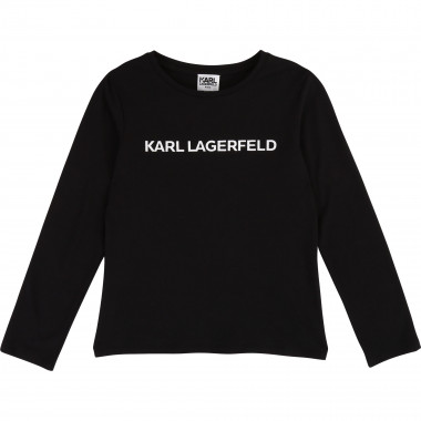 Long-sleeved T-shirt KARL LAGERFELD KIDS for GIRL