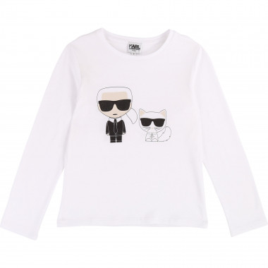 Choupette and Karl T-shirt KARL LAGERFELD KIDS for GIRL