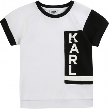 Cotton blend T-shirt KARL LAGERFELD KIDS for GIRL