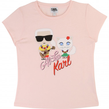 SHORT SLEEVES TEE-SHIRT KARL LAGERFELD KIDS for GIRL
