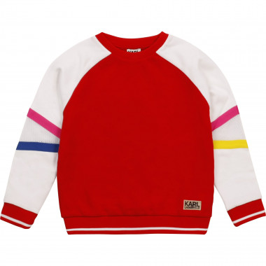 Multicolour fleece sweatshirt KARL LAGERFELD KIDS for GIRL