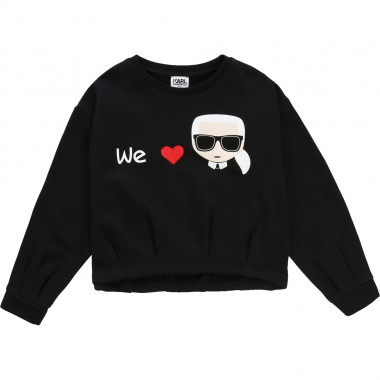 Printed embroidered sweatshirt KARL LAGERFELD KIDS for GIRL