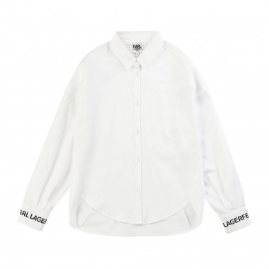 Shirt with back pleats KARL LAGERFELD KIDS for GIRL