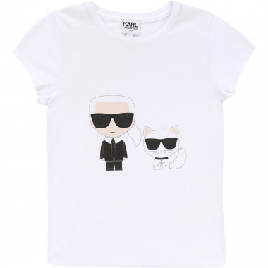 T-shirt with prints KARL LAGERFELD KIDS for GIRL