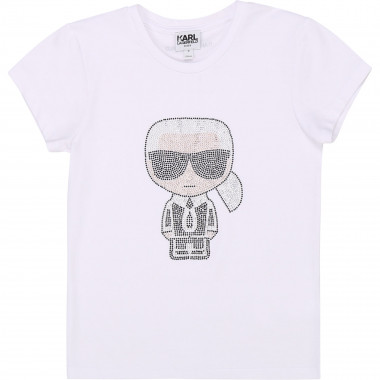 Cotton and modal T-shirt KARL LAGERFELD KIDS for GIRL