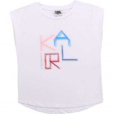 Short-sleeved T-shirt KARL LAGERFELD KIDS for GIRL