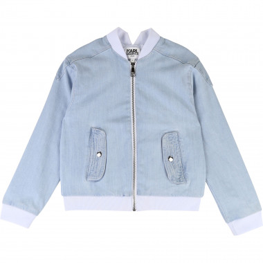 Denim jacket KARL LAGERFELD KIDS for GIRL