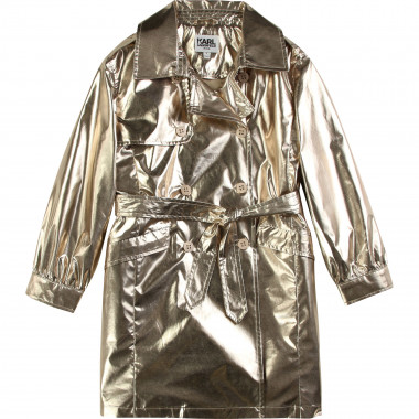 Coated metallic trench coat KARL LAGERFELD KIDS for GIRL