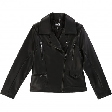 Faux leather motorcycle jacket KARL LAGERFELD KIDS for GIRL