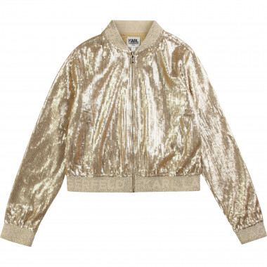 Embroidered sequined jacket KARL LAGERFELD KIDS for GIRL