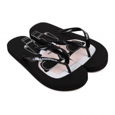 Printed synthetic flip-flops KARL LAGERFELD KIDS for GIRL