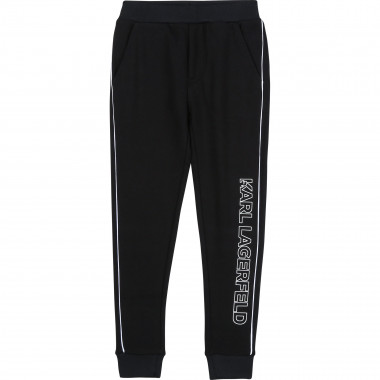Cotton jogging trousers KARL LAGERFELD KIDS for BOY